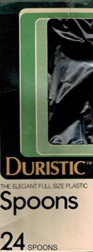 DURISTIC ELEGANT SMOKE COLORED FULL SIZE PLASTIC SPOONS- 24 CT BOX (Presto Reusable compare prices)