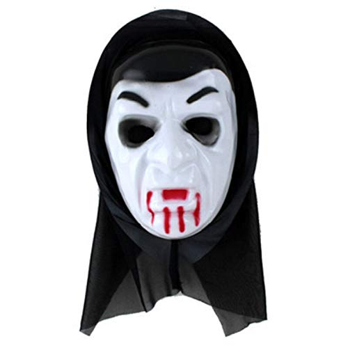 PAPBI Nun Mask 8-10 inch Hot Toys Horror Valak Cosplay Scary Creepy Evil Face Masks Halloween Christmas Collectable Collectible Gift Big Large Collectibles Gifts for Adult Kids