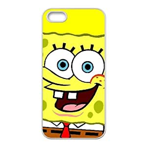Funda iPhone 5 5s 5SE caso del teléfono celular Funda blanca Bob Esponja Y2O7VV