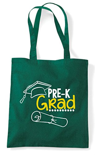 Green Tote Statement Grad School k Cute Pre Bag Shopper Dark Oq4XP