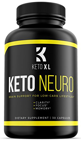 Keto Neuro | Brain Support Nootropic Supplement for Keto Diet and Low Carb Lifestyles | Memory, Focus, Clarity | Boost Energy, Mental Performance | Bacopa Monnieri, DMAE, Rhodiola Rosea, Ginkgo Biloba by Keto XL