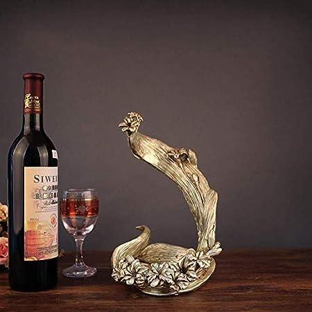 Estantería de vino Regalo Botellero, antiguo europeo de Old Rose del estante del vino decoración de la resina hace los ornamentos conveniente for los regalos de boda decoraciones caseras estante de vi