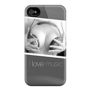 Tough Iphone Cwv37173EjDH Cases Covers/ Cases For Iphone 6plus(i Love Music)