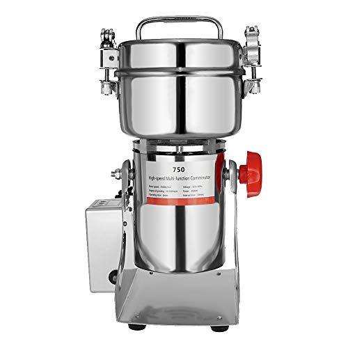 Marada 750g Pulverizer Grinding Machine Stainless Steel 25000 r/min Pulverizer Machine for Kitchen Herb Spice Pepper Coffee Powder Grinder (750g)  by Marada (Image #3)