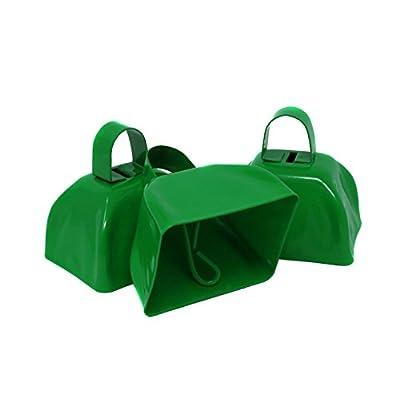 Metal School Cowbells - Set of 12 Green Metal Cowbell Noisemakers (Green Cowbells): Health & Personal Care