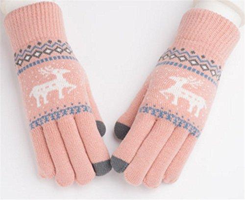 一貫したマネージャー単なるYouchan(ヨウチャン) レディース 手袋 グローブ 鹿 スマホ対応 防寒 防風 柔らか シンプル キュート メンズ レディース 冬