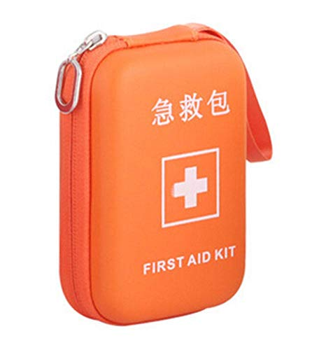 Portable First Aid Kit Travel Medical Box for Camping, Hiking-Orange by Generic