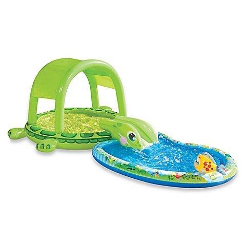 Banzai Junior Shade N Slide Turtle Splash Pool Multi l Summer Fun for your Little - North West Centre Shopping