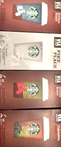 Starbucks Via Instant Coffee Bundle- 48 Packets of Assorted Flavors