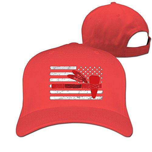 Indian Stone AX Flag Red Adjustable Baseball Hats For Man Woman (Indian Seahawk)