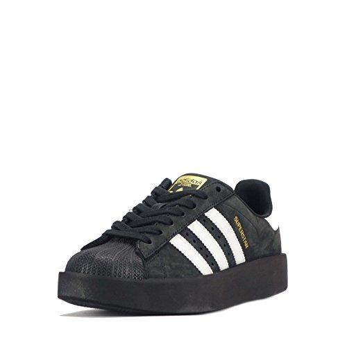 ADIDAS ORIGINALS SUPERSTAR épais Femmes Chaussures - Noir/Blanc, 5.5 UK/EU 38.5