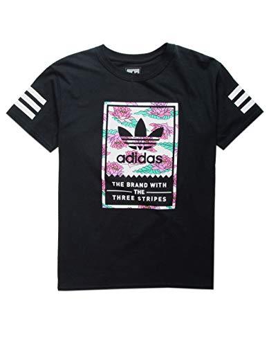 (adidas Lotus Classic V1 Boys T-Shirt, Black, X-Large)