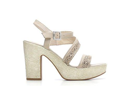 Nero Giardini Sandale talon haut en cuir pour femme Item P615630D 410 Sable
