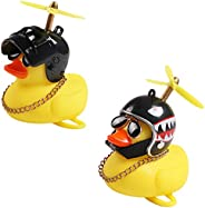 2 Pack,Bike Bell,Bicycle Horn ,Cute Cartoon Yellow Little Duck Shape,Rubber Duck Bicycle Accessories for Kids