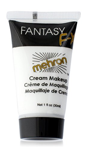 Mehron Makeup Fantasy F/X Water Based Face & Body Paint, WHITE – 1oz (Halloween Clown Prosthetic Masks)