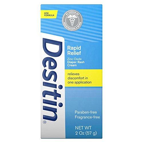 Desitin Rapid Relief Creamy Zinc Oxide Diaper Rash Cream (Pack of 3)