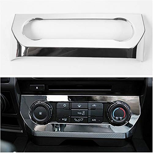 Aspeike Chrome Central Console Air Conditioner Adjust Switch Cover Trim for Ford F150 F-150 2015-2018