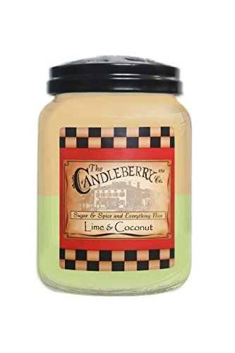Lime & Coconut - Large Jar Candle (26oz) by The Candleberry co