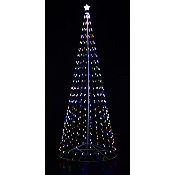 Lighted Spiral Christmas Trees