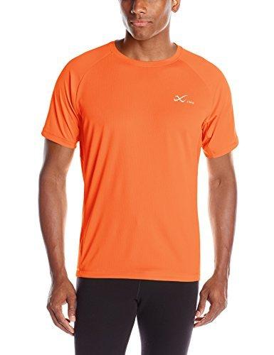CW-X Conditioning Wear Men's Short Sleeve Ventilator Mesh Top, Large, Orange B013XQYR3S
