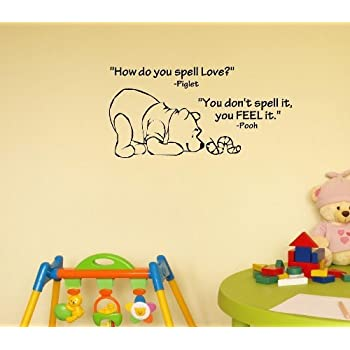 Amazon.com: Click Down Winnie the Pooh Wall Decor Decal Sticker ...