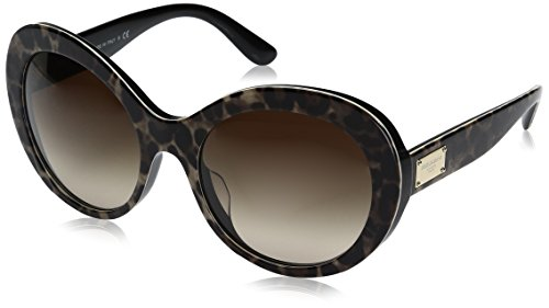 Dolce-Gabbana-Womens-Acetate-Woman-Round-Sunglasses-Leoprint-57-mm