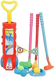 Colaxi Kids Golfs Set Practice Plastic Mini Putter Club Caddy Balls Sports Game