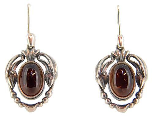 Georg Jensen Sterling 2014 Smoky Quartz Earrings (#J3901)