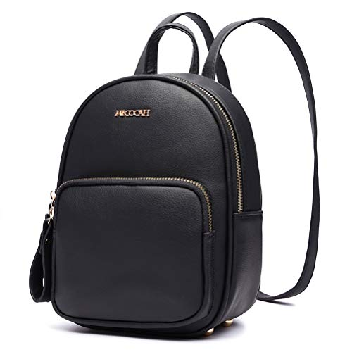 HaloVa Women's Backpack, Mini Shoulder Bag, Premium Leather Crossbody Bag, Black