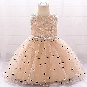 SKays Baby Girl Dot Princess Christening Dress Festive Party Dress Wedding Dress Bridesmaid Pageant Dress Birthday Party…