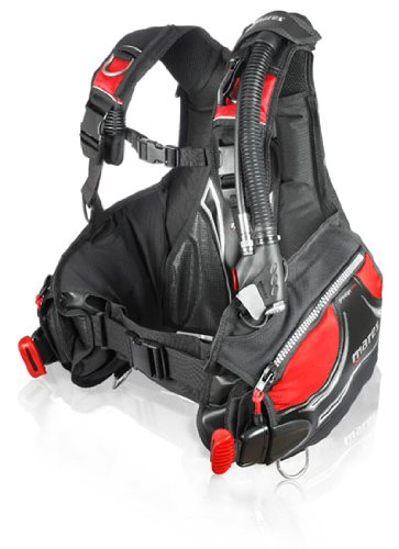 Mares Prestige BC with MRS Plus Weight Pockets - Black/Red - X-Small