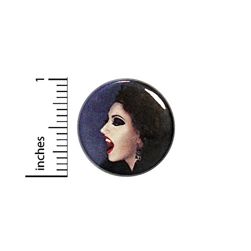 Vampire Chick Lady Woman Button Backpack Pin Creepy Rad Cool Gift 1 Inch 73-28