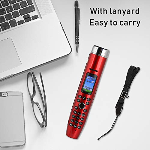 Aufee with Lanyard 32G Max Expansion 4 Band 2G GSM Mini Cell Phone Straight Phone for Personal(red)