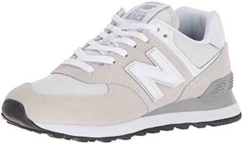 New Balance Women's Iconic 574 Sneaker, White, 8.5 B US