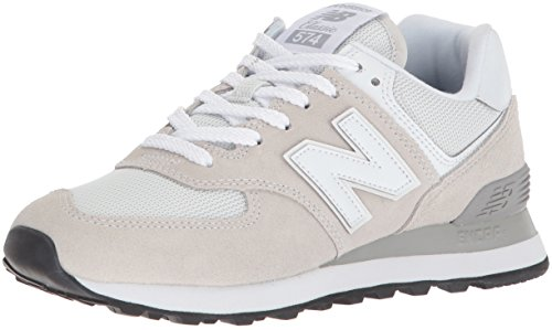 New Balance Women's 574 Core Sneaker, White, 8.5 B US