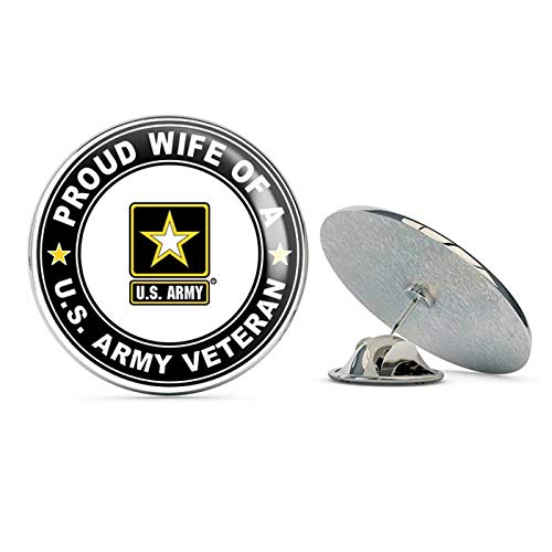 TG Graphics US Army Veteran Proud Wife Steel Metal 0.75