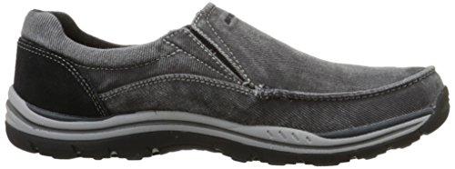 scivolare previsto nero Avillo uomo Skechers scarpa Casual sulla xIA1wqH