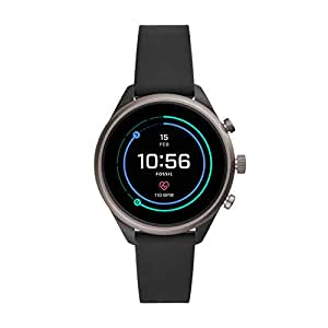 Fossil Women's Digital Wrist Watch smart Display and Silicone Strap, FTW6024