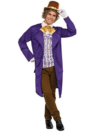 Rubie's Men's Chocolate Factory Deluxe Willy Wonka Costume,