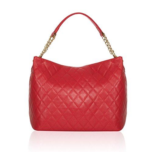 Al Rojo Hombro De Otra Para Piel Mujer Bolso 71071 myitalianbag qOzxwEAta