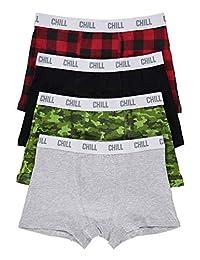 Boys Fun Underwear | Boxer Briefs 4-Pack Size L (14)