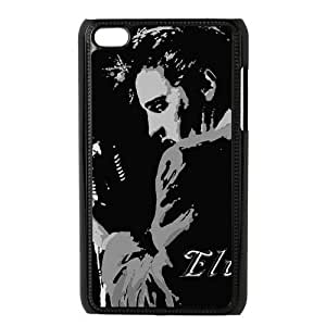 CTSLR Elvis Presley Protective Hard Case Cover Skin for iPod Touch 4 4G 4th Generation- 1 Pack - Black/White - 3