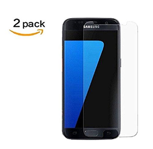 Linboll [2 Pack] für Galaxy S7, Panzerglas Displayschutzfolie für Samsung Galaxy S7 mit Härtegrad 9h Abgerundete Kanten (2.5D)[0.25mm Ultradünner][Hohe Transparenz][Fingerabdruck-Frei][Blasenfrei]