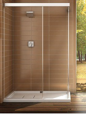 Maax 137366 900 084 002 Chrome Professional Nuevo 6034 Walk In Corner Shower