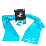 Meglio Latex Free Resistance Bands 7ft. Exercise Bands for Physical Therapy, Strength Training Workouts, Yoga, Pilates, Stretching. Range of Resistance Strengths & Exercise Guide Booklet Included
