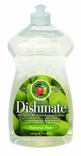 Earth Friendly Products Dishmate, Dishwashing Liquid, Natural Pear, 25-Ounce (Pack of 2) by Earth Friendly Products Dishmate Natural