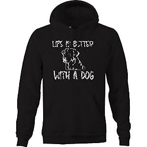 OS Gear Distressed - Life is Better with a Dog Labrador Retriever K9 Sweatshirt - Medium