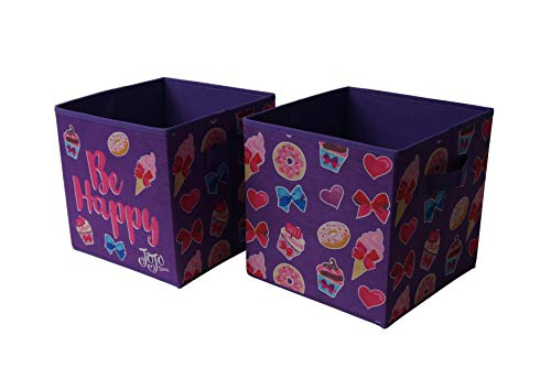 JoJo Siwa Collapsible Storage Cubes, (Pack of 2), Purple