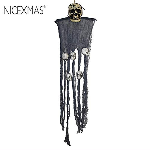 Air Snowman - Decorations Scary Hanging Skull Ornament Grim Reaper Ghost Decoration 110cm - Party Decorations Party Decorations Skull Wall Decor Nutcracker Ornament Wood Doll Resin Christmas Doo