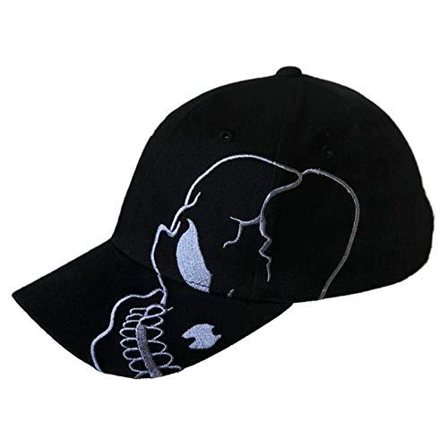Magic. Skull Skeleton Cotton Adjustable Baseball Cap - Black/Charcoal